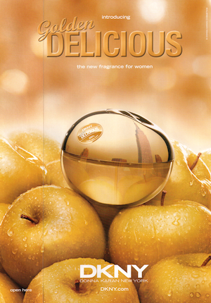 Perfumy DKNY Golden Delicious reklama
