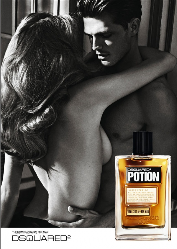 Reklama perfum DSquared Potion