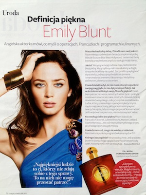 Ulubione perfumy Emily Blunt Instyle