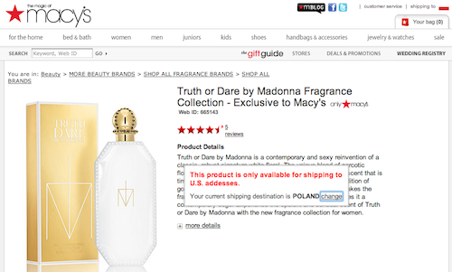 Macys Madonna Truth or Dare