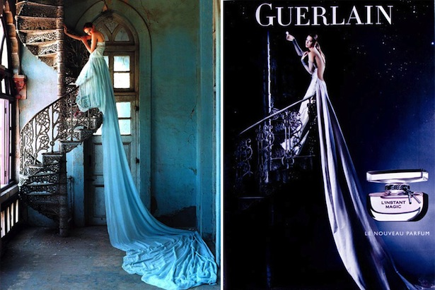 Tim Walker Vogue 2005 vs. Tim Walker Guerlain L'instant Magic 2007