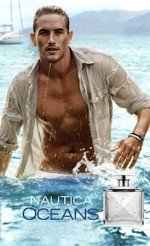 Luke Flynn w reklamie perfum Nautica Ocean for Men
