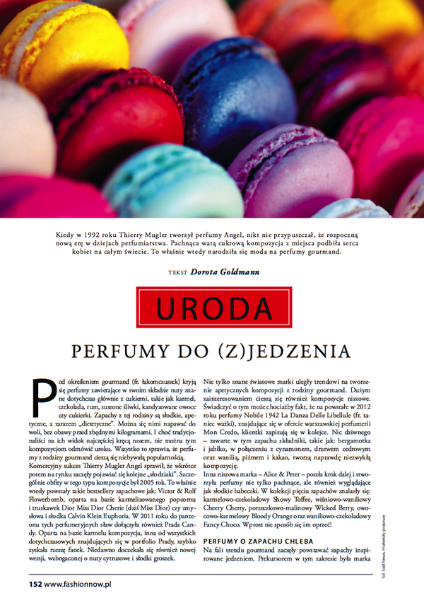 Fashion Magazine - perfumy do (z)jedzenia
