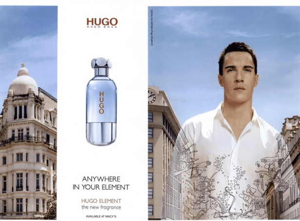 Reklama perfum Hugo Boss Element