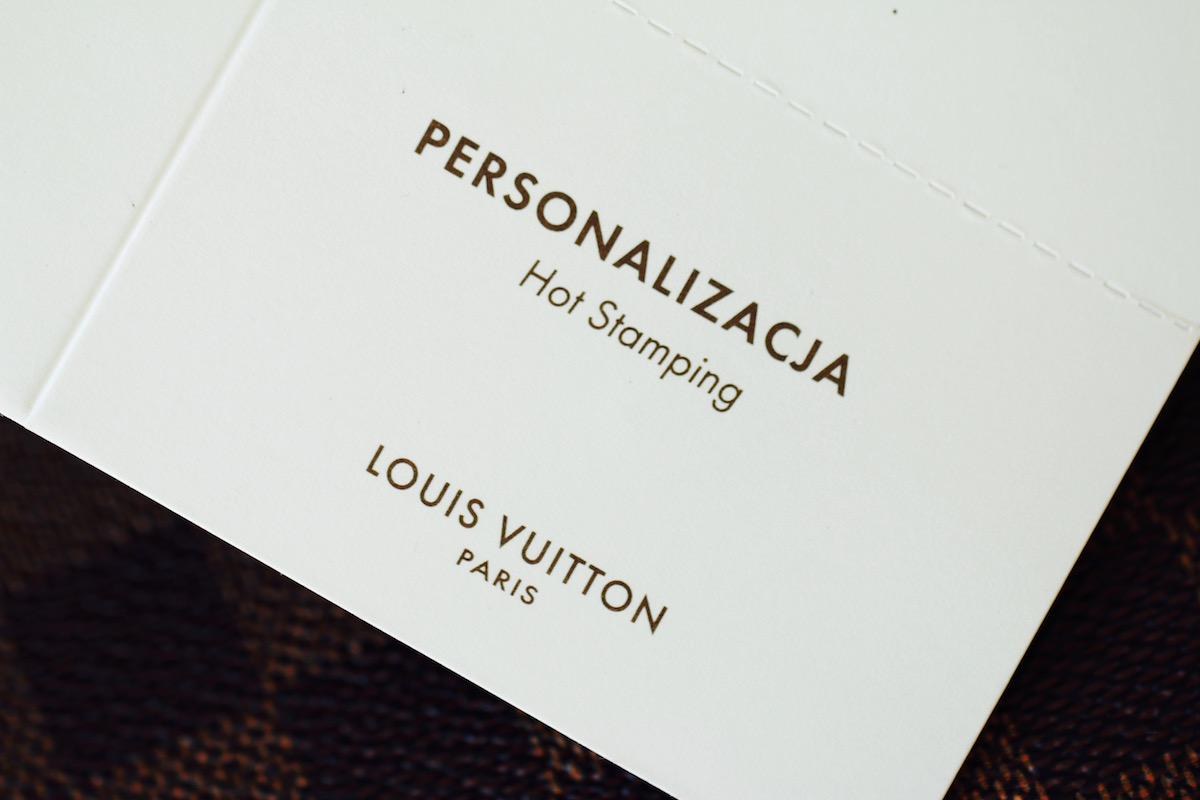 Louis Vuitton hot stamping