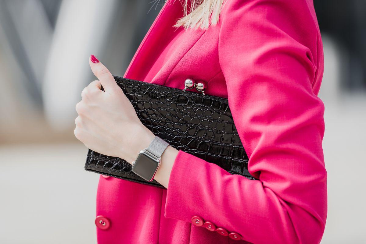 Elegancka stylizacja - różowy garnitur